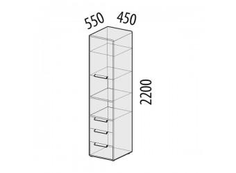 Шкаф-пенал Фристайл 56.04 левый