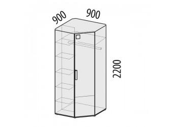 Угловой шкаф для одежды Фристайл 56.02 левый