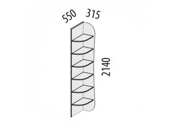 Угловой стеллаж Фристайл 56.05 левый