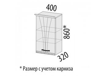 Навесной кухонный шкаф Афина 18.05 левый