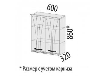 Навесной кухонный шкаф Афина 18.06