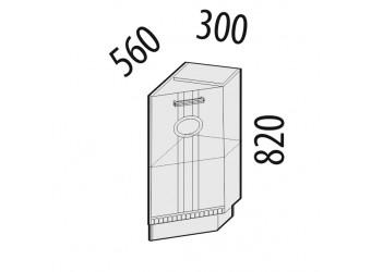 Шкаф кухонный угловой Афина 18.64 правый (торцевой)
