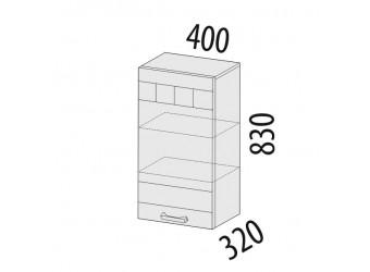 Навесной кухонный шкаф Аврора 10.05 левый