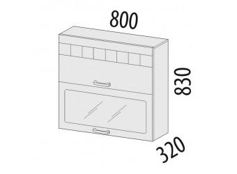 Шкаф-витрина кухонный навесной Аврора 10.09