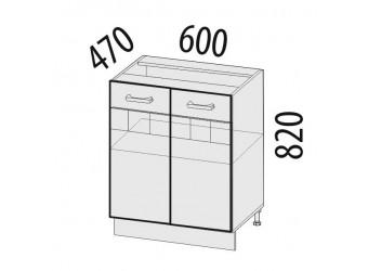 Шкаф кухонный напольный Аврора 10.58