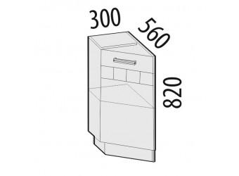 Шкаф кухонный угловой Аврора 10.65.1 левый (торцевой)