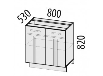 Шкаф кухонный напольный Каролина 11.60