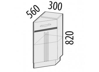 Шкаф кухонный угловой Каролина 11.64 правый (торцевой)