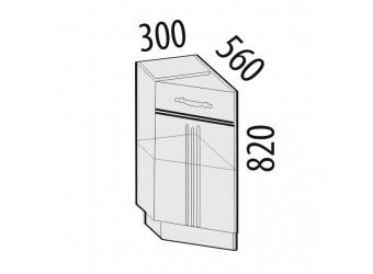 Шкаф кухонный угловой Каролина 11.65 левый (торцевой)