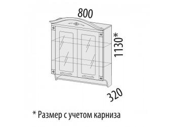 Шкаф-витрина кухонный навесной Милана 23.15 с колоннами