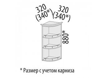 Шкаф кухонный угловой Милана 23.18 (торцевой)