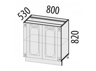 Шкаф кухонный напольный Милана 23.62 с колоннами
