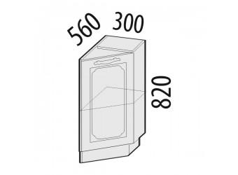 Шкаф кухонный угловой Милана 23.64 правый (торцевой)