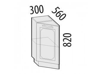 Шкаф кухонный угловой Милана 23.65 левый (торцевой)