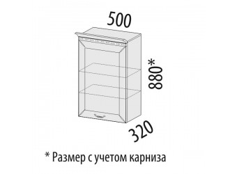 Навесной кухонный шкаф Оливия 72.10