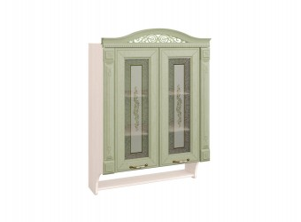 Шкаф-витрина кухонный навесной Оливия 72.15 с колоннами
