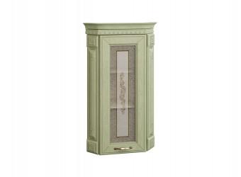 Шкаф-витрина кухонный угловой Оливия 72.16 с колоннами (торцевой)