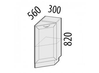 Шкаф кухонный угловой Оливия 72.64 правый (торцевой)
