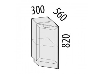Шкаф кухонный угловой Оливия 72.65 левый (торцевой)