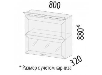 Шкаф-витрина Оливия 72.81 (с системой плавного закрывания)