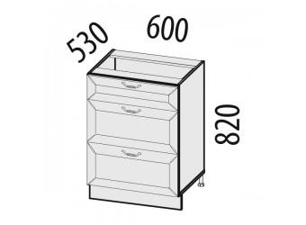 Шкаф кухонный напольный Оливия 72.91 (с системой плавного закрывания)