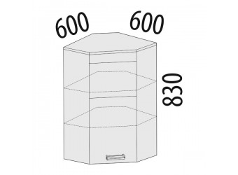 Шкаф кухонный угловой Оранж 09.20