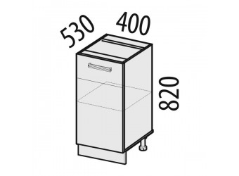 Шкаф кухонный напольный Оранж 09.54