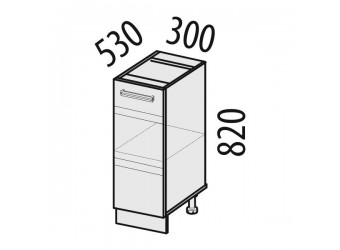 Шкаф кухонный напольный Оранж 09.55