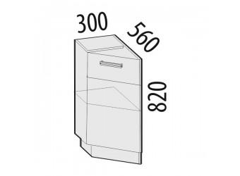 Шкаф кухонный угловой Оранж 09.65 левый (торцевой)
