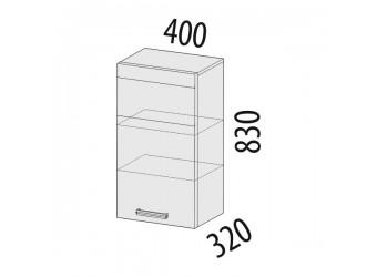 Навесной кухонный шкаф Палермо 08.05 левый
