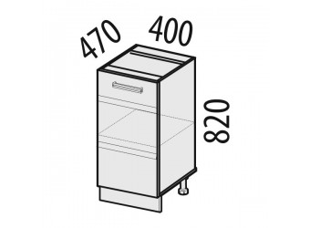 Шкаф кухонный напольный Палермо 08.54.1