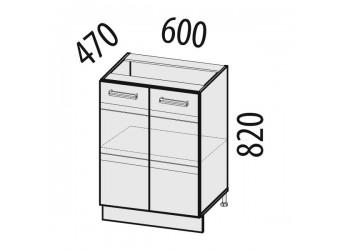 Шкаф кухонный напольный Палермо 08.58