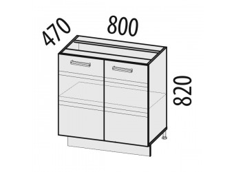 Шкаф кухонный напольный Палермо 08.60.1