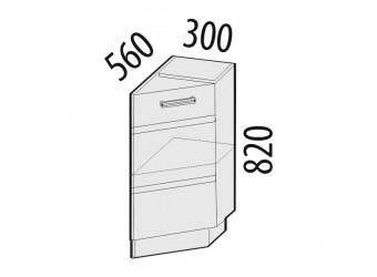Шкаф кухонный угловой Палермо 08.64.1 правый (торцевой)