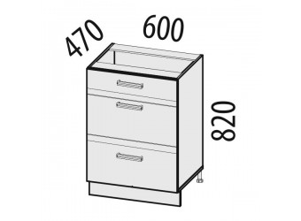 Шкаф кухонный напольный Палермо 08.66.2