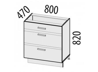 Шкаф кухонный напольный Палермо 08.67.2