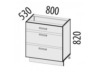 Шкаф кухонный напольный Палермо 08.92 (с системой плавного закрывания)