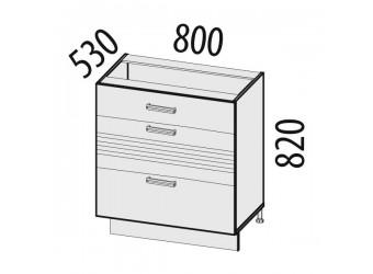 Шкаф кухонный напольный Рио 16.67