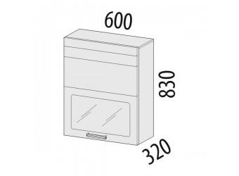 Шкаф-витрина Рио 16.80.1 (с системой плавного закрывания)