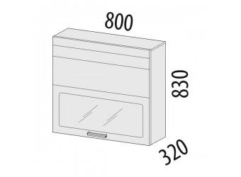 Шкаф-витрина Рио 16.81.1 (с системой плавного закрывания)