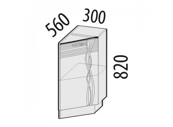 Шкаф кухонный угловой Софи 22.64 правый (торцевой)