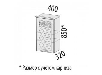 Навесной кухонный шкаф Тиффани 19.03 правый