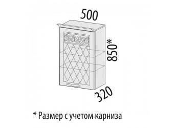 Навесной кухонный шкаф Тиффани 19.10