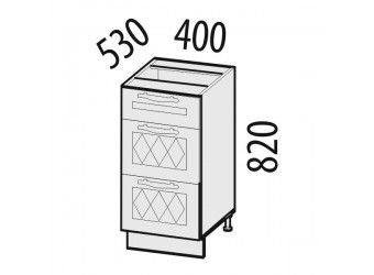 Шкаф кухонный напольный Тиффани 19.59