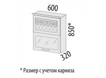 Шкаф-витрина Тиффани 19.80 (с системой плавного закрывания)