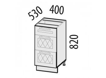 Шкаф кухонный напольный Тиффани 19.90 (с системой плавного закрывания)