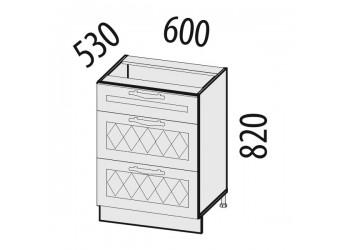 Шкаф кухонный напольный Тиффани 19.91 (с системой плавного закрывания)