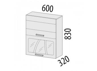 Шкаф-витрина кухонный навесной Тропикана 17.08