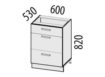 Шкаф кухонный напольный Тропикана 17.66