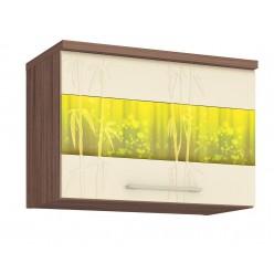 Шкаф кухонный над вытяжкой Тропикана 17.83.1 (с системой плавного закрывания)